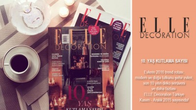 ELLE Decoration Kasım – Aralık sayımız çıktı!